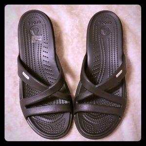 Crocs Patricia Womens Black slip on slide sandal